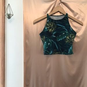 American  Apparel Cropped Tropical Tank